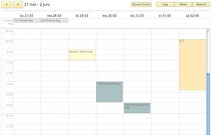 De agenda in Schoudercom.nl