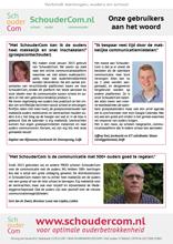 De laatste Schoudercom referenties van De Zevensprong, Simon Carmiggeltschool en Lucas van Leyden